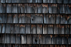 Weathered shingles of an old mill building Royalty Free Stock Photography