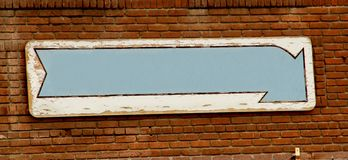A Weathered Sign With Copyspace Royalty Free Stock Photography