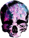 Skull covered with red rust Royalty Free Stock Photos