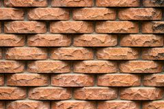 Weathered stained old brick wall background. close-up Royalty Free Stock Images