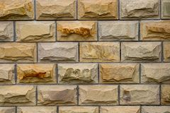Weathered stained old brick wall background. close-up.  Royalty Free Stock Images