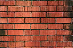 Weathered stained old brick wall background. Weathered Stained old Red Brick Wall Texture Background Stock Photo