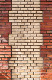 Weathered stained old brick wall background Stock Image