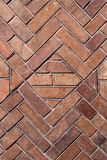 Weathered stained old brick wall background Stock Photography