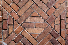 Weathered stained old brick wall background Stock Images