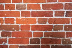 Weathered stained old brick wall background royalty free stock photos