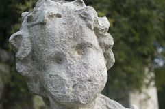 Weathered statue head Stock Photography