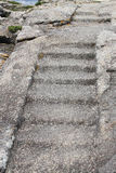 Weathered stone and concrete steps Stock Photo