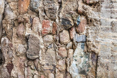 Weathered stone and concrete wall background Stock Photo