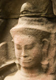 Weathered Devata Face, Pre Rup Temple, Cambodia Royalty Free Stock Images