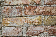 Weathered stone wall, textured background Royalty Free Stock Photo