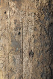 Weathered Telephone Pole. Closeup of the weathered surface on a wooden telephone pole. Vertical shot Royalty Free Stock Photo