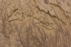Weathered texture of sand pile surface Royalty Free Stock Image