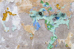 Weathered texture wall with remains of old peeling paint Stock Photo