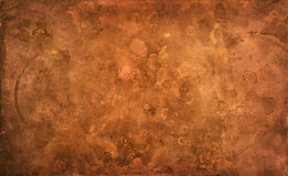 Weathered textured copper background Stock Image