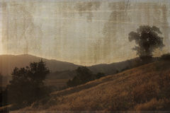 An antique landscape scene. Stock Images