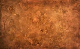 Weathered texturizó el fondo de cobre Imagen de archivo