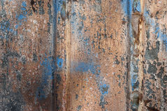 Weathered tin painted surface Stock Photography