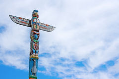 Weathered Totem Pole Royalty Free Stock Image