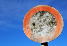 Weathered traffic sign driving ban Stock Photography