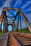 Weathered train trestle Royalty Free Stock Photos