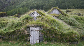 Weathered turf houses Royalty Free Stock Image