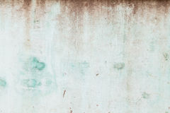Weathered turquoise concrete wall Royalty Free Stock Photo