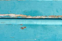 Weathered turquoise painted wood background stock images