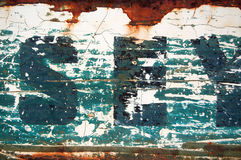 Weathered type stencil Royalty Free Stock Photo