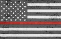 Free Weathered United States Of America Thin Red Line Flag Royalty Free Stock Image - 100137616
