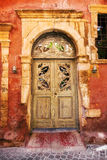Weathered Venetian facade in the Old Town of Chania. Crete royalty free stock image