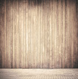 Weathered vertical brown wooden planks wall Stock Photography