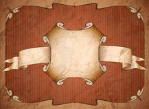 Weathered vintage cardboard frame Royalty Free Stock Photography