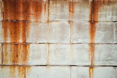 Weathered Wall. Weathered brick wall with rust stains Royalty Free Stock Photos