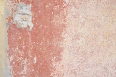 Weathered wall with beautyful salmon orange and rose colors.  royalty free stock photo