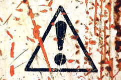 Weathered warning sign Stock Images