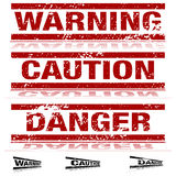 Weathered Warning Signs. An image of a set of weathered warning signs Royalty Free Stock Photo