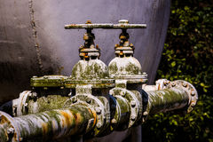 Weathered Water Valves Royalty Free Stock Photos