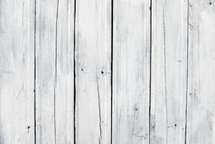 Weathered white wooden plank Stock Images