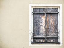 Weathered window shutter Royalty Free Stock Photos