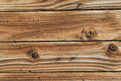 Weathered Wood Background With Knots Royalty Free Stock Photos