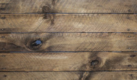 Weathered wood background with nails Stock Image