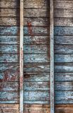 Weathered wood building framing stock image