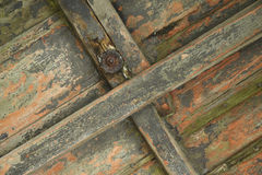 Weathered wood and corroded metal Stock Photography