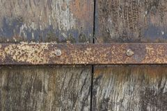 Weathered wood and corroded metal Stock Image