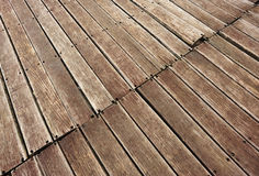 Weathered wood deck Stock Image