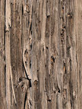 Weathered wood fence. A weathered, cracked, and faded wood picket fence Royalty Free Stock Photos