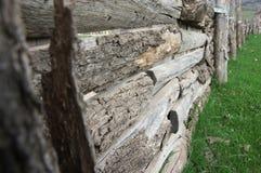 Weathered wood fence Stock Image
