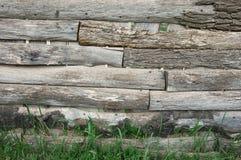 Weathered wood fence Stock Photo