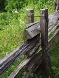 Weathered. Wood fence in TN royalty free stock images